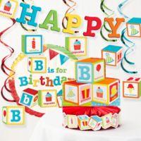 Creative Converting ABC Blocks Birthday Party 8-Piece Decorations Kit