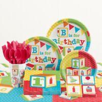 Creative Converting ABC Blocks Birthday Party 81-Piece Supplies Kit