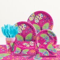 Creative Converting™ 81-Piece Butterfly Sparkle Birthday Party Tableware Kit