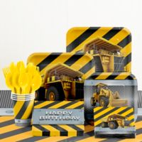 Creative Converting™ 81-Piece Construction Zone Birthday Party Tableware Kit