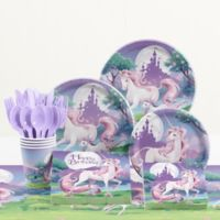 Creative Converting™ 81-Piece Unicorn Fantasy Birthday Party Tableware Kit