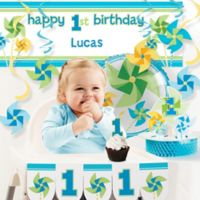 Creative Converting™ 10-Piece Turning One Boy's 1st Birthday Party Décor Kit