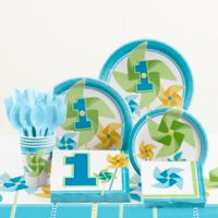 Creative Converting™ 81-Piece Turning One Boy's 1st Birthday Party Tableware Kit
