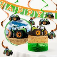 Creative Converting Tractor Time Birthday 8-Piece Kit