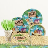 Creative Converting™ 81-Piece Safari Adventure Birthday Party Tableware Kit
