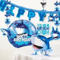 Creative Converting™ 6-Piece Shark Splash Birthday Party Décor Kit
