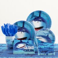 Creative Converting™ 81-Piece Shark Splash Birthday Party Tableware Kit