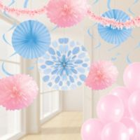 Creative Converting™ 32-Piece Classic Party Décor Kit in Pink/Pastel Blue