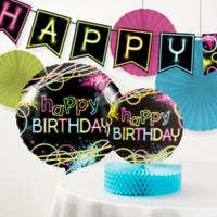 Creative Converting™ 6-Piece Glow Birthday Party Décor Kit