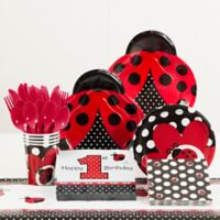 Creative Converting™ 81-Piece Ladybug Fancy 1st Birthday Party Tableware Kit