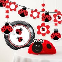 Creative Converting 6-Piece Ladybug Fancy Birthday Party Décor Kit