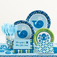 Creative Converting Ocean Preppy 1st Birthday 81-Piece Table Kit