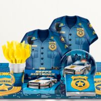 Creative Converting Police Party Birthday 81-Piece Table Kit
