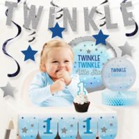 Creative Converting™ 10-Piece One Little Star Boy 1st Birthday Party Decor Kit
