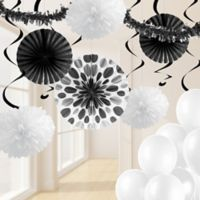 Creative Converting 32-Piece Decorating Kit in Black/White