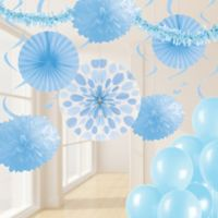 Creative Converting 32-Piece Decorating Kit in Pastel Blue