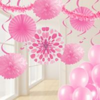 Creative Converting 32-Piece Decorating Kit in Candy Pink