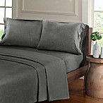 Urban Habitat Heathered Cotton Jersey Knit Twin XL Sheet Set in Charcoal