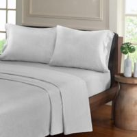 Urban Habitat Heathered Cotton Jersey Knit Full Sheet Set in Light Grey