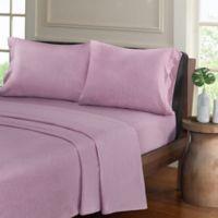 Urban Habitat Heathered Cotton Jersey Knit Twin Sheet Set in Purple