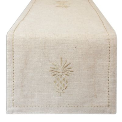 Tommy Bahama® Merry Metallic 70 Inch Table Runner In Gold