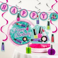 Creative Converting™ 8-Piece Sparkle Spa Birthday Party Décor Kit