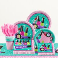 Creative Converting™ 81-Piece Sparkle Spa Birthday Party Tableware Kit