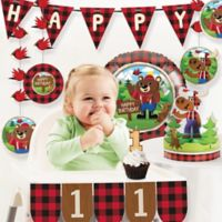 Creative Converting™ 8-Piece Lum-Bear Jack 1st Birthday Party Décor Kit
