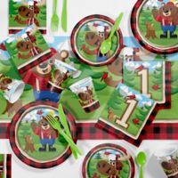 Creative Converting™ 81-Piece Lum-Bear Jack 1st Birthday Party Tableware Kit