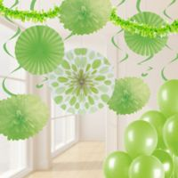 Creative Converting 32-Piece Decorating Kit in Fresh Lime