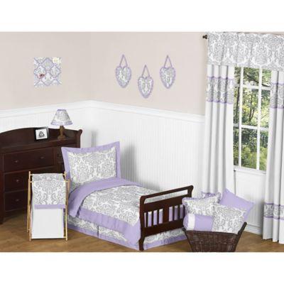 Sweet Jojo Designs 5 Piece Lavender And Grey Elizabeth Toddler Bedding Set