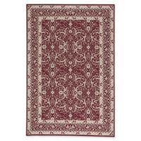 Capel Rugs Municipality Ziegler 3-Foot 11-Inch x 5-Foot 6-Inch Area Rug in Red