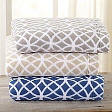 great bay home home fashion designs geometric polar fleece sheet set