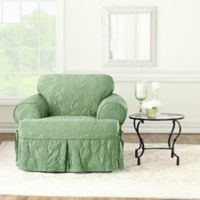Sure Fit® Matelasse Damask T-Chair Cover in Sage