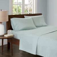 Madison Park 3M Microcell Printed Queen Sheet Set in Aqua