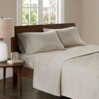 Madison Park 3M Microcell Printed Full Sheet Set in Tan