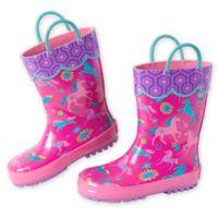 Stephen Joseph® Size 6 Horse Rain Boot