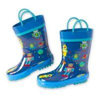 Stephen Joseph® Size 13 Robot Rain Boot