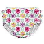 I Play. ® Size 6M Daisy Ruffle Snap Swim Diaper in White