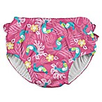 i play.® Size 24M Toucan Ruffle Snap Swim Diaper in Hot Pink