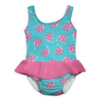 i play.® Size 6M 1-Piece Angelfish Skirty Swimsuit with Built-In Swim Diaper in Aqua