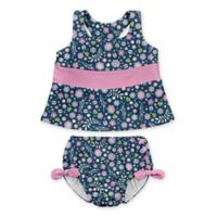 i play.® Size 24M 2-Piece Wildflower Tankini with Swim Diaper Set in Navy