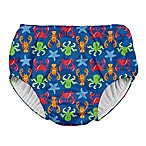 I Play. ® Size 12M Sea Life Snap Swim Diaper in Royal Blue