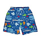 I Play. ® Size 6M Fish Trunks with Built-In Swim Diaper in Royal Blue