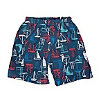 I Play. ® Size 18M Sailboat Trunks with Built-In Swim Diaper in Navy