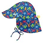 i play.® Size 9-18M Sealife Flap Sun Hat in Royal Blue