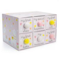Tri Coastal Design Little Llama Dreams Keepsake Box with Pom Pom in Pink
