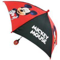 "Disney® ""Mickey Mouse"" Kids Umbrella in Red/Black"