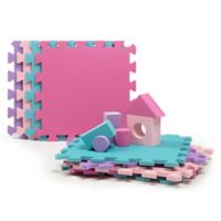 Tadpoles™ 9-Piece Play Mat with Blocks in Pink/Purple