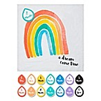 "Lulujo Baby ""A Dream Come True"" Rainbow Photo Blanket and Card Set"